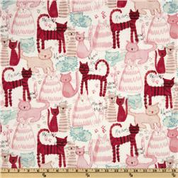 Michael Miller Novelties Meow Meow Pink Fabric
