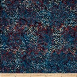 Timeless Treasures Batik Tonga Sophisticate Ikat Tide