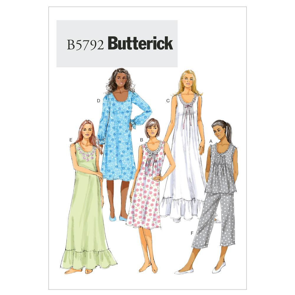Butterick Misses' Top, Gown and Pants Pattern B5792 Size 0Y0