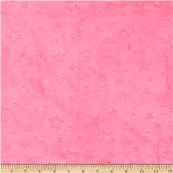 Minky Embossed Star Cuddle Fuchsia