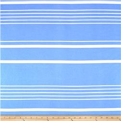 Liverpool Double Knit Multi Stripe Ocean blue