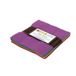 "Kona Cotton New Bright 5"" Charm Squares"