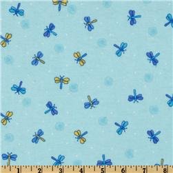 Comfy Flannel Dragonfly Blue