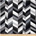 Kaufman Geo Pop Home Decor Canvas Stripe Pepper