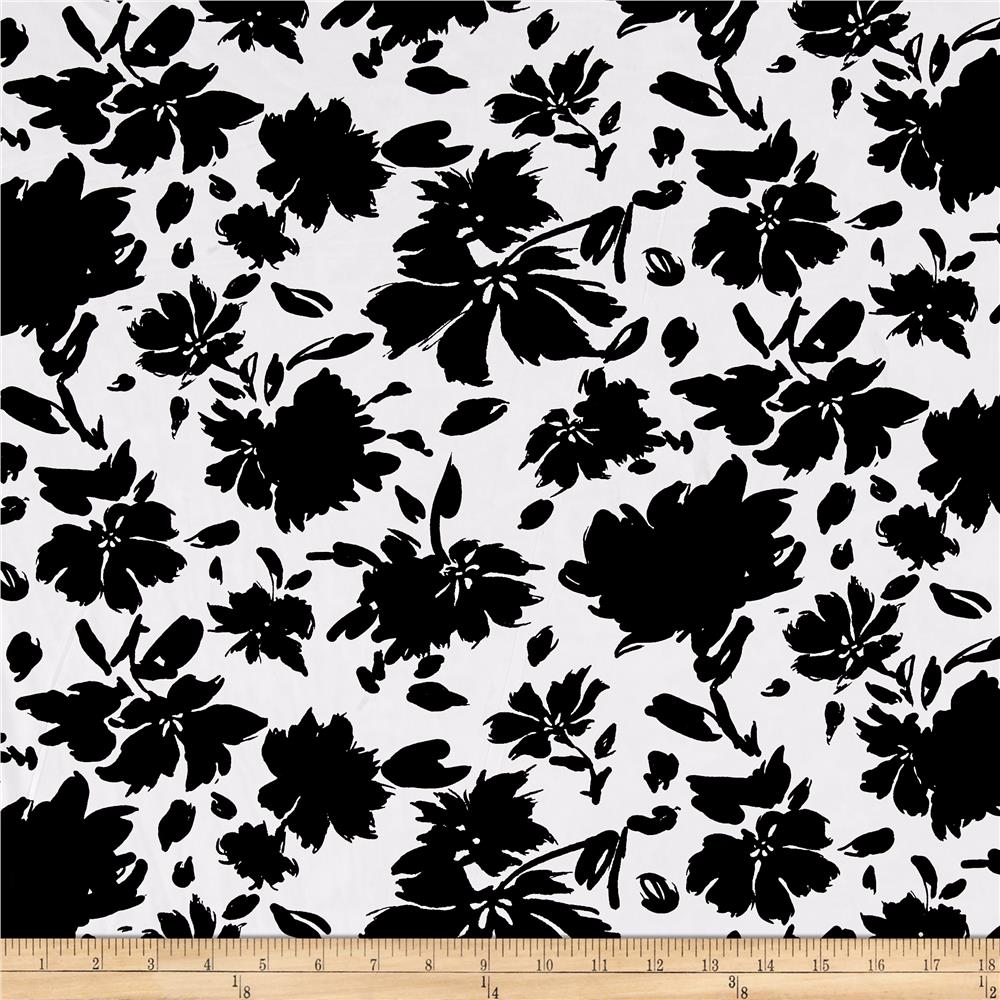 ITY Knit Floral Bloom Black/White - Discount Designer ...