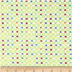 Wild Things Checks Light Green/White Fabric