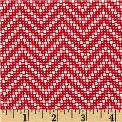 Moda Fresh Air Dotted Chevron Red