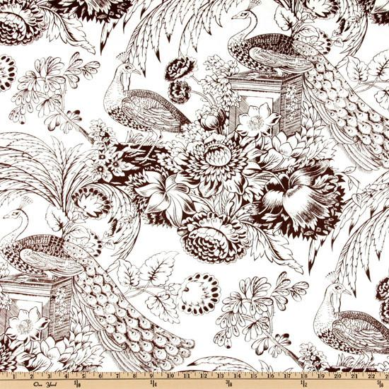 Peacock Toile Chocolate