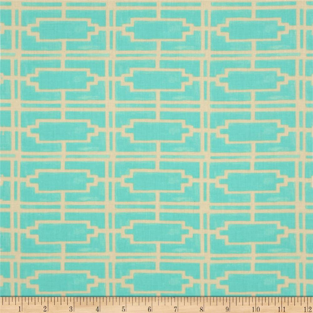 Tina Givens Havens Edge Cotton Voile Walls Turquoise