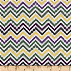 Remix Metallic Small Chevron Mardi Gras Fabric