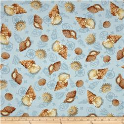 Sea Treasures Tossed Shells Light Blue