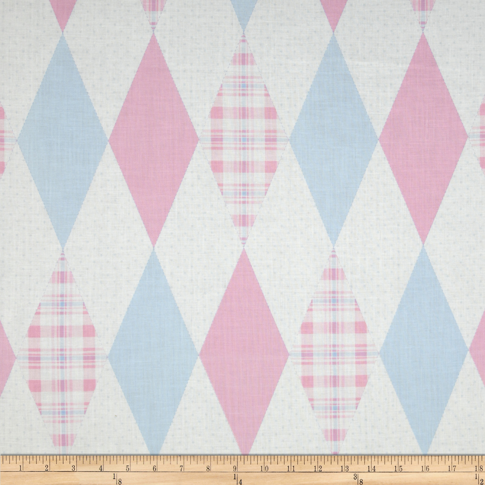 In The Nest Argyle Pink/Blue Fabric
