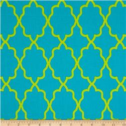 Michael Miller Coco Cabana Moroccan Lattice Aqua Fabric
