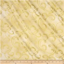 Kanvas Autumn Splendor Metallic Gold Garland Cream