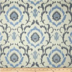Covington Tandori Ikat Jacquard Denim Blue Fabric