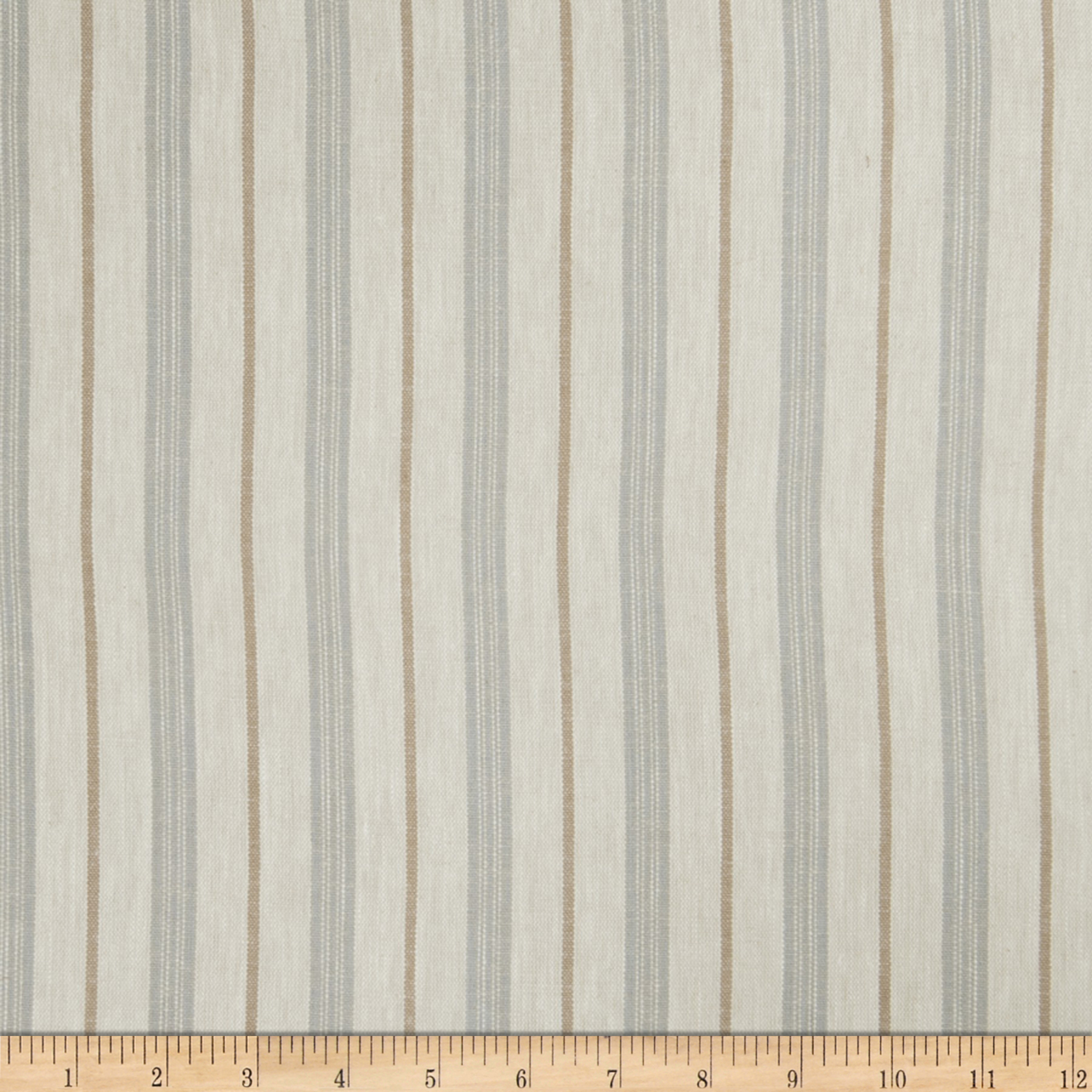 Jaclyn Smith Stamford Stripe Blend Chambray Fabric by Fabricut in USA