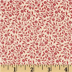 Edith Mini Floral Cranberry