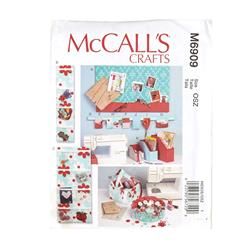 McCall's Organizer and Storage Bins Pattern M6909 Size OSZ