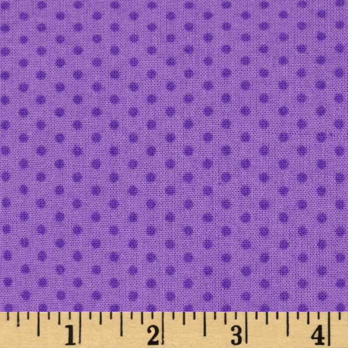 Kaufman Spot On Pindot Violet Fabric
