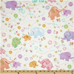 Fabri-Quilt Cuddle Flannel Baby White
