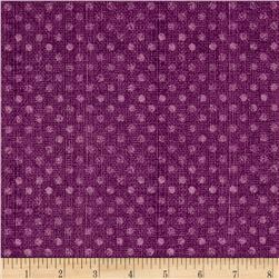 "Essential 108"" Backing Dotsy Plum"