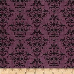 Chillingsworth Skull Damask Purple