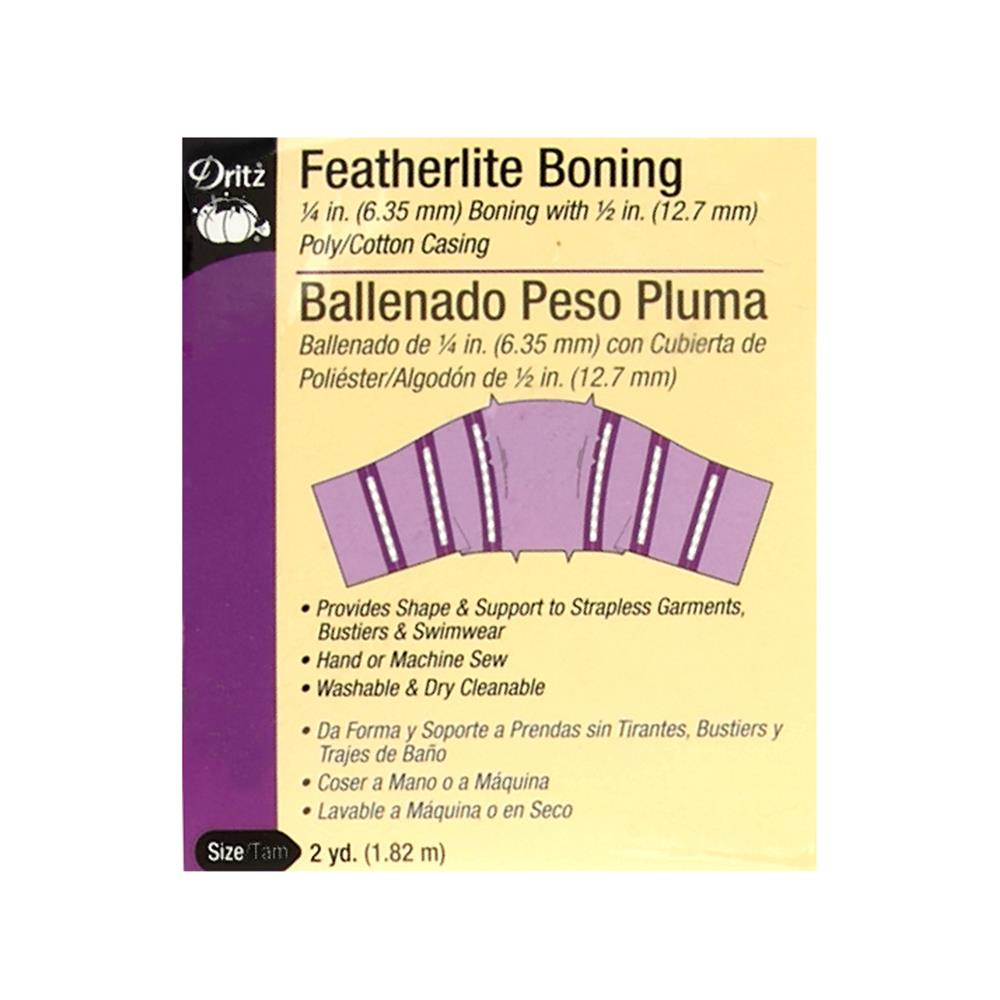 1/4'' Featherlite Boning White - 2 Yard Pkg