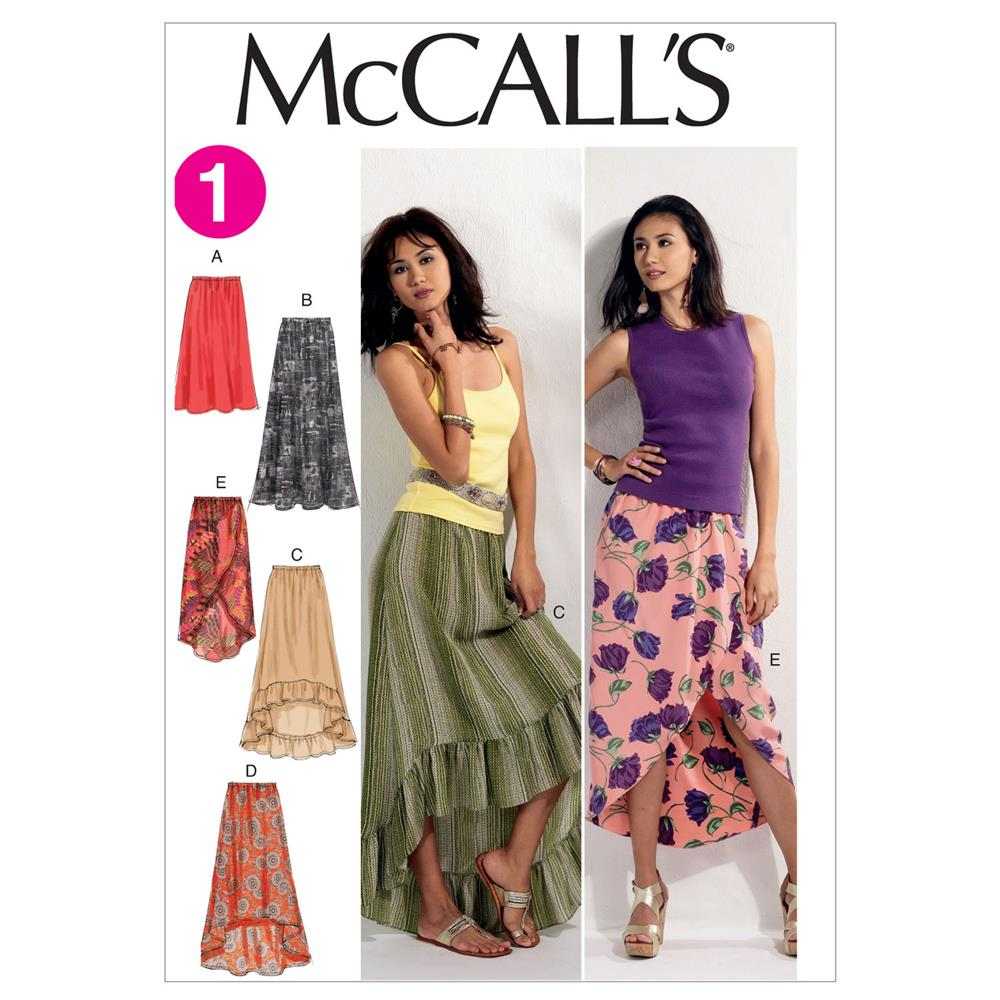 McCall's Misses' Skirts Pattern M6567 Size 0Y0