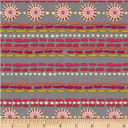Merry Go Round Smocking Stripe Grey