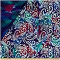 Double Face Quilted Indian Batik Paisley Purple/Fuchsia/Teal