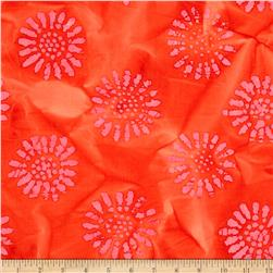 Indian Batik Corfu Daisy Pink/Red