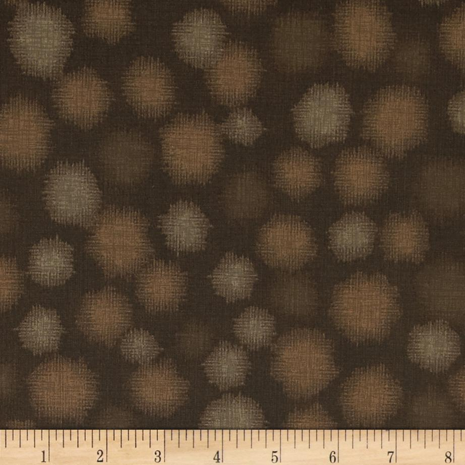 Quilter's Linen Print Dots Chocolate