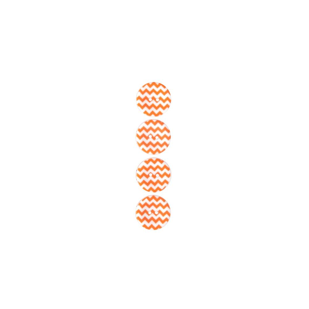 "Riley Blake Sew Together 1"" Matte Button Chevron Orange"