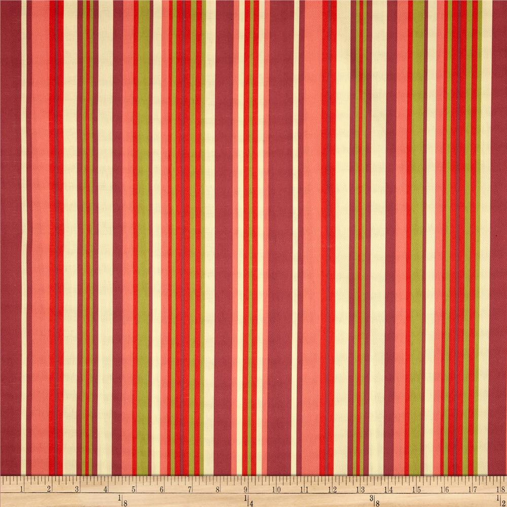 Bartow Indoor/Outdoor Lagoon Stripe Peach/Red/Chartreuse