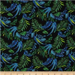 Mystic Topaz Floral Allover Ferns Blue/Green/Black
