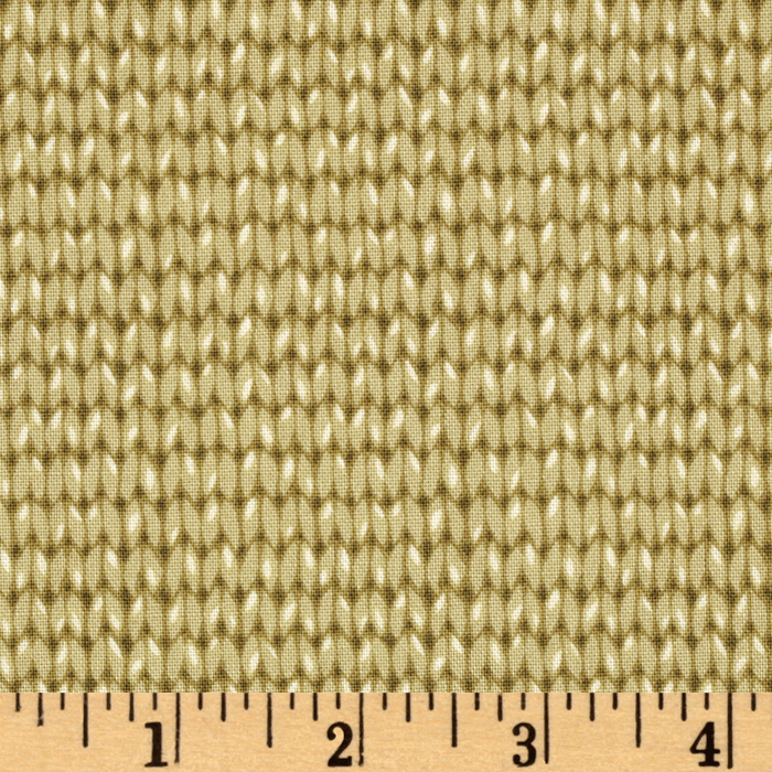 Downton Abbey II Knit Pattern Loden Fabric by Andover & Makower in USA