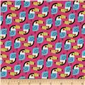 Kaufman Little Senoritas Toucans Pink