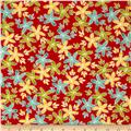 Moda Hometown Girl Stitched Garden Cherry