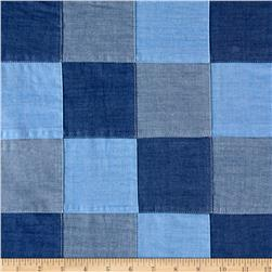 Robert Kaufman Checkboard Patchwork Blue