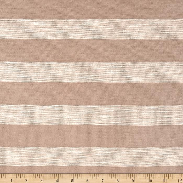 Stripe Sweater Knit Sand Fabric By The Yard