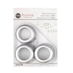 Curtain Grommets 8 Pack Brushed Silver
