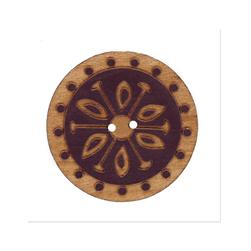 Organic Elements Wood Button 1 1/2'' Brick