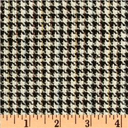 Uptown Raw Silk Suiting Houndstooth Black/Multi