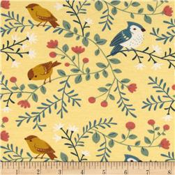 Birch Organic Acorn Trail Knit Birds and Branches Cream