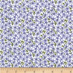 Botanical Blues Floral Blue/Green Fabric