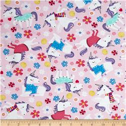 Timeless Treasures Unicorns Pink