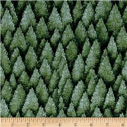 Woodlands Spirits Pine Trees Green