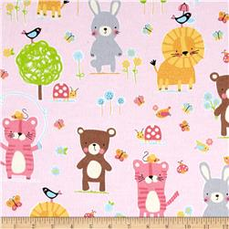 Michael Miller Nature Babies Flannel Nature Babies Pink