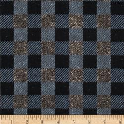 Penny Rose Menswear Flannel  Check Gray