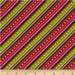 Kimberbell's Merry & Bright Diagonal Stripe Black